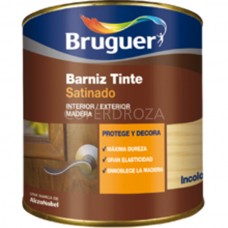 BARNIZ TINTE SAT CAOBA    BRUGUER    250 ML